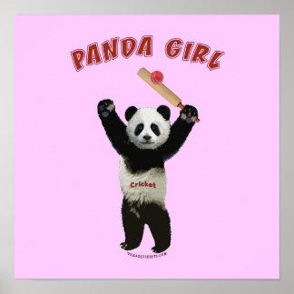 Grillo del chica de la panda poster