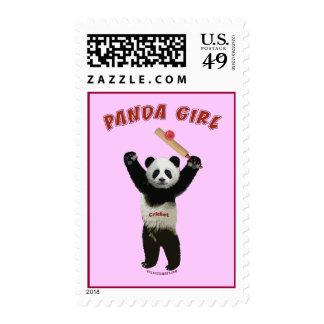 Grillo del chica de la panda sello