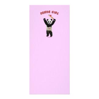 Grillo del chica de la panda tarjetas publicitarias a todo color