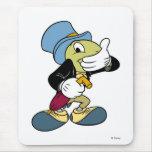 Grillo Disney de Jiminy de Pinocchio Alfombrilla De Raton