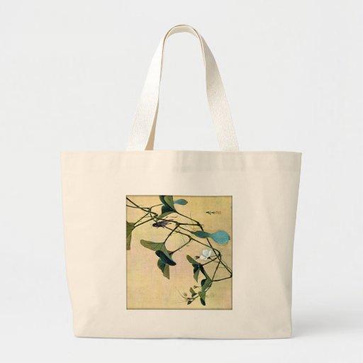 Grillo en un arte Ukiyo-E de Woodblock del japonés Bolsas Lienzo