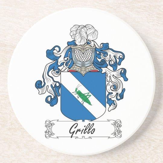 Grillo Family Crest Coaster