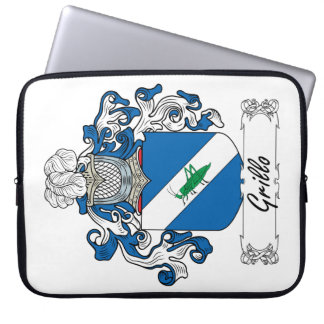 Grillo Family Crest Laptop Computer Sleeve