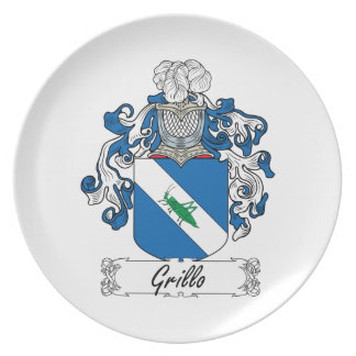 Grillo Family Crest Plates