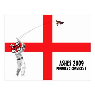 Grillo inglés, cenizas 2009 postal