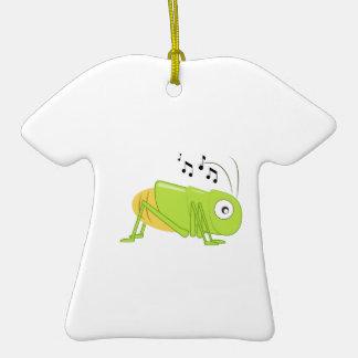Grillo musical adorno de cerámica en forma de camiseta