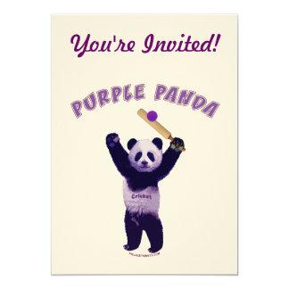 Grillo púrpura de la panda comunicados personalizados