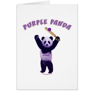 Grillo púrpura de la panda felicitación