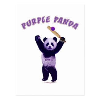 Grillo púrpura de la panda postales