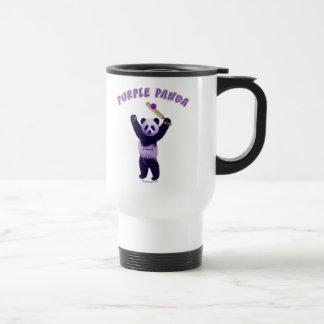 Grillo púrpura de la panda taza de café