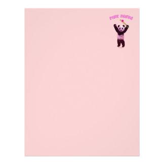 Grillo rosado de la panda tarjetas publicitarias