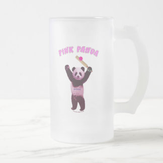 Grillo rosado de la panda taza de café