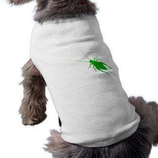 Grillo verde claro playera sin mangas para perro