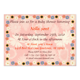 Grils Baby Shower Invitations