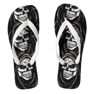 Grim dead reaper flip flops