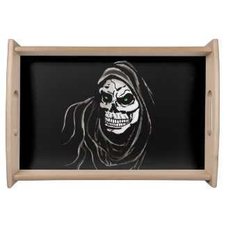 Grim Death reaper Halloween death horror day Serving Trays
