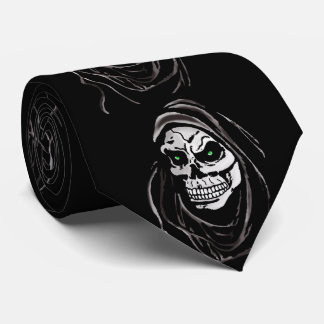 Grim Death reaper Halloween death horror day Tie