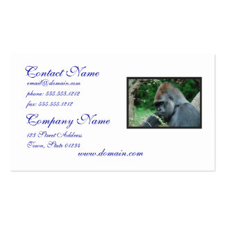 Grim Gorilla Double-Sided Standard Business Cards (Pack Of 100)