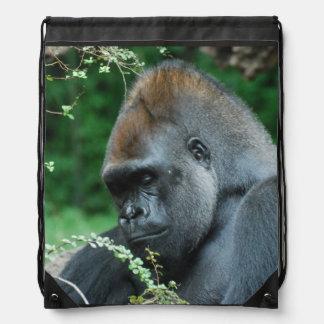 Grim Gorilla Drawstring Bags