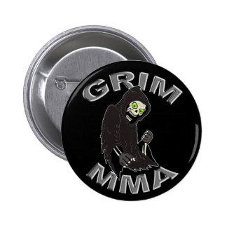 Grim MMA logo black button