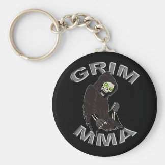 Grim MMA logo black keychain