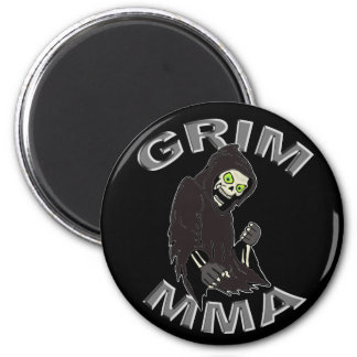 Grim MMA logo black magnet