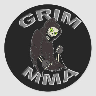 Grim MMA Logo Classic Round Sticker