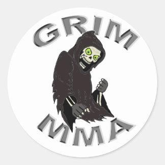 Grim MMA logo w/white background Classic Round Sticker