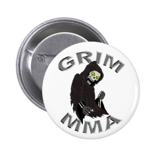 Grim MMA logo white button