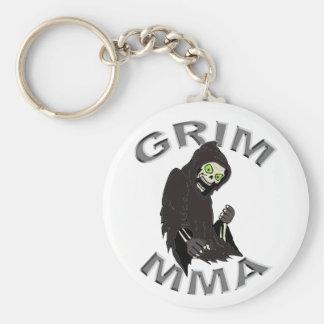 Grim MMA logo white keychain