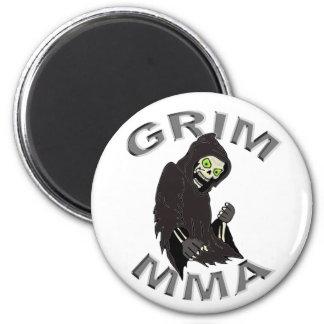 Grim MMA logo white magnet