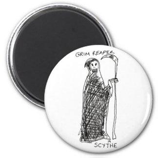 Grim Reaper 2 Inch Round Magnet