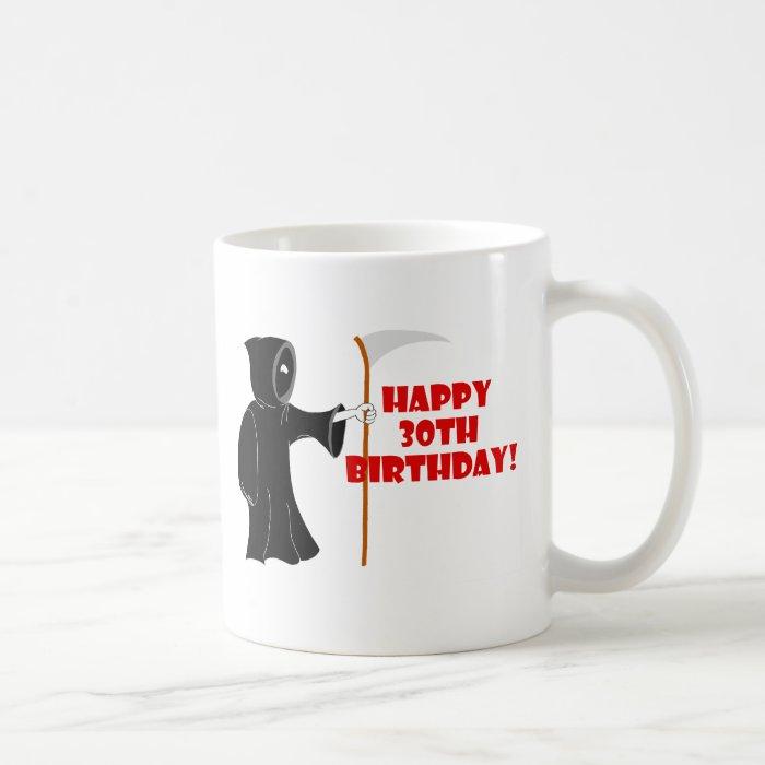 Grim Reaper 30th Birthday Mug