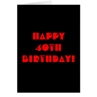 Grim Reaper 40th Birthday Card