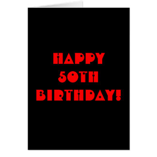 Grim Reaper 50th Birthday Black Card