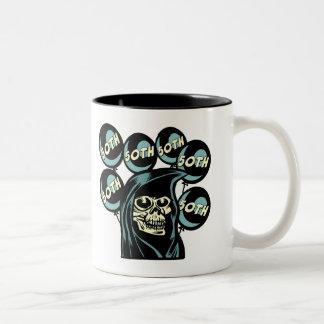 Grim Reaper 50th Birthday Gifts Two-Tone Coffee Mug