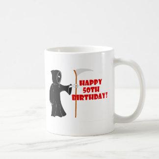 Grim Reaper 50th Birthday Mug