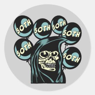 Grim Reaper 50th Birthday Sticker