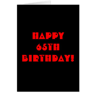 Grim Reaper 65th Birthday Card