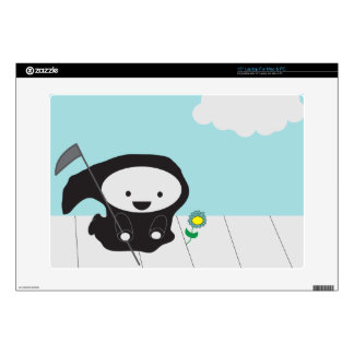 "Grim Reaper and Flower 15"" Laptop Skin"