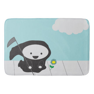 Grim Reaper and Flower Bathroom Mat