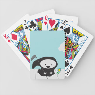 Grim Reaper and Flower Bicycle Playing Cards