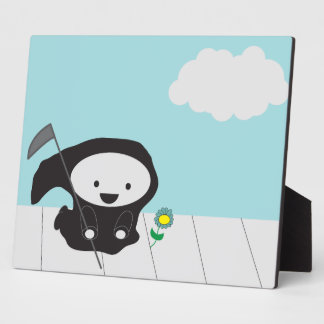 Grim Reaper and Flower Photo Plaques
