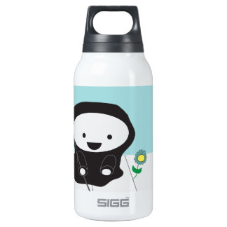 Grim Reaper and Flower Thermos Water Bottle