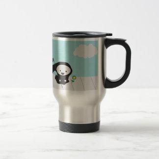 Grim Reaper and Flower Travel Mug