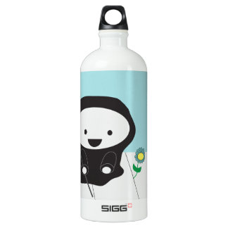 Grim Reaper and Flower Water Bottle