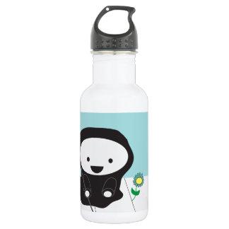 Grim Reaper and Flower Water Bottle