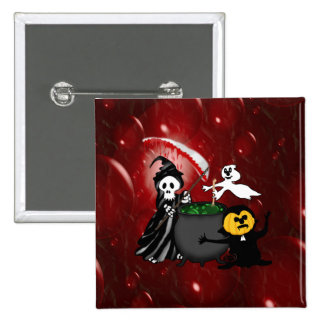 Grim Reaper and Ghost Cauldron Pins