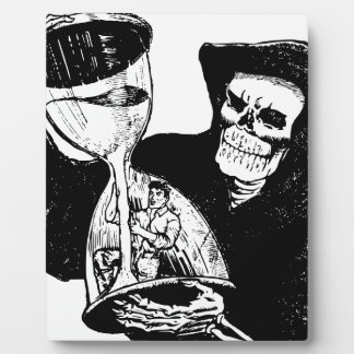 Grim Reaper and Man Plaque
