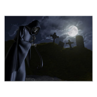Grim Reaper at the Office Poster